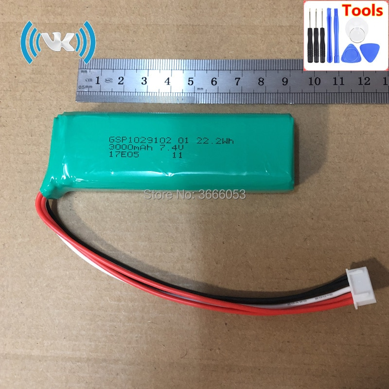 VK 7,4 V 3000mAh GSP1029102 01 запасная батарея для динамика harman kardon Go-play встроенный литий-ионный аккумулятор литий-полимерная батарея