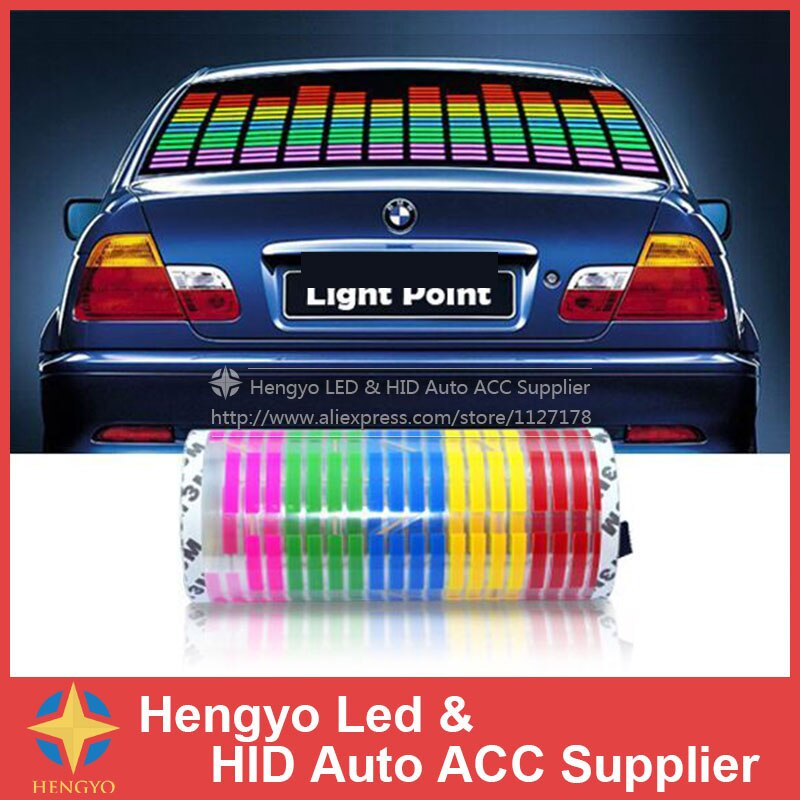 114*30 CM LED Sound Musik Aktiviert EL Autoaufkleber Equalizer Glow Blitzsteuerung Multi Colour Light Flashing Musik rhythmus Licht