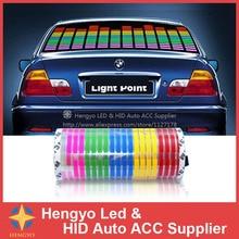 114*30 CM LED Suono LA Musica Attivato EL Autoadesivi Dellautomobile del Compensatore Glow Flash Multi Panel Colour Light Lampeggiante Musica ritmo Luce