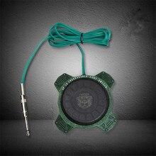 Pro 1 pièces GP C4 couleur verte ronde 360 degrés tatouage pédale interrupteur avec RCA Clipcord pour équipement dalimentation de tatouage