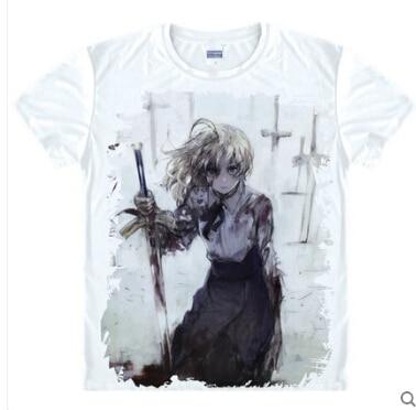 Anime Emiya Shirou destino noche estancia Saber traje de saber Archer Camiseta tee camiseta
