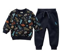 Lente Herfst Baby Trui Jongen Winter Kleding Sport Pak Kinderen Kleding Kid Trui Fleece Baby Pak Meisje Kleding Merk Baby