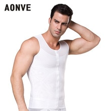 Aonve Mannelijke Shaper Hombre Buik Shapewear Mannen Buik Afslanken Houding Vest Top Body Shaper Stretchy Zipper Ondergoed S-2XL