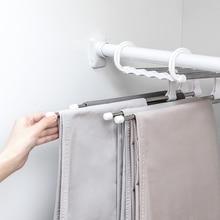 S-type pants Pants holder Multi-function wardrobe scarves tie Storage Rack Finishing Shelf Multi-layer fold Stretch pants Rack