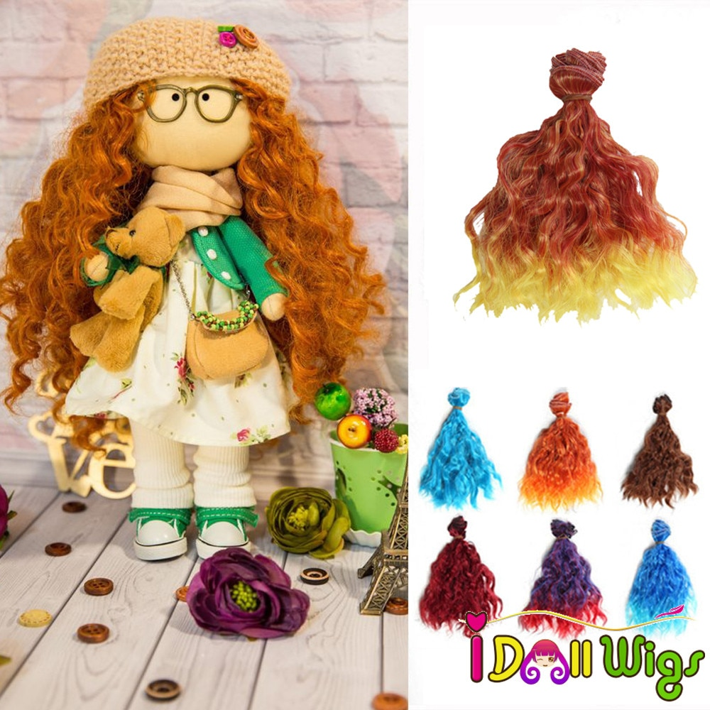 1 PC 15*100 cm eau ondulée poupée cheveux trames pour coudre BJD/SD/Blyth/Pullip poupée perruques couleurs pièces pour le choix