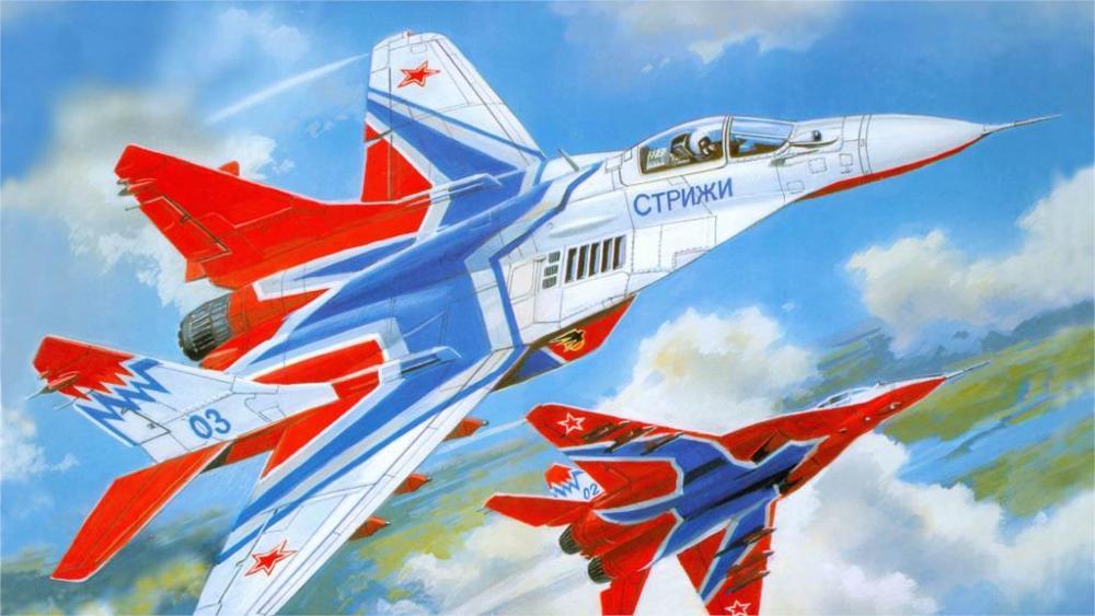 Arte mig-29 aviões MiG-29 Soviética Russa Home da Decoração da Lona Cartaz