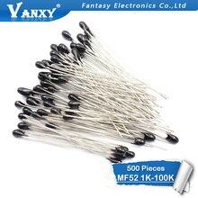 500 pièces MF52AT MF52 B 3950 Thermistance NTC Résistance Thermique 5% 1 K 2 K 3 K 4.7 K 5 K 10 K 20 K 47 K 50 K 100 K