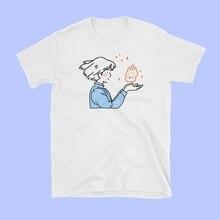 Pudo-xsxsophie baisers Calcife T-Shirt femmes Tumblr esthétique japonais Anime Kawaii graphique T-Shirt Howls en mouvement château chemise
