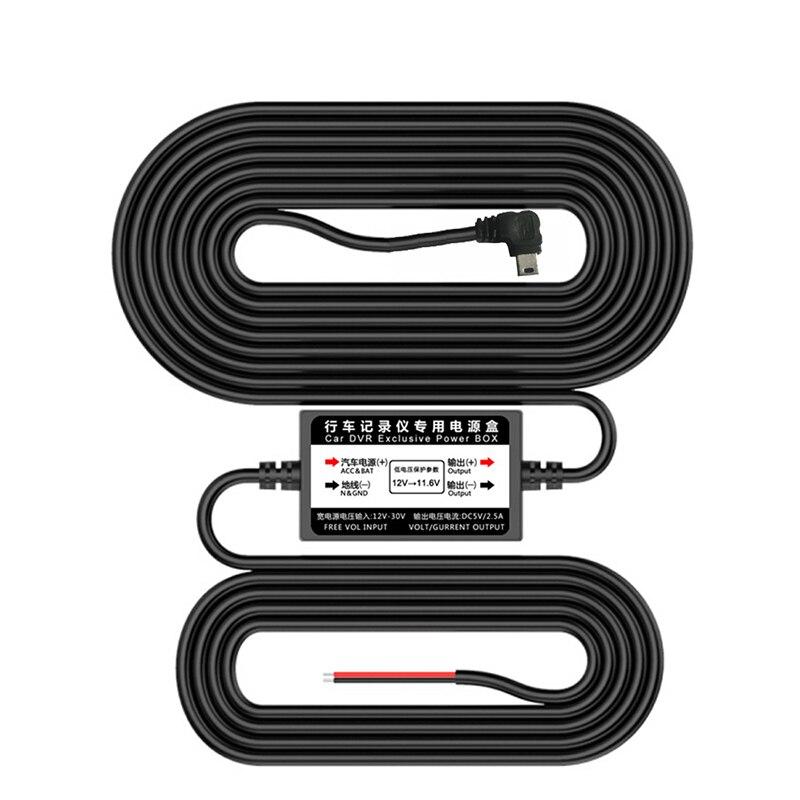 Bluavido 5V 2.5A USB 2,0 OBD Buck Line 24 часа мониторинг парковки непрерывный источник питания для автомобиля DVR камера 3 м длина кабеля