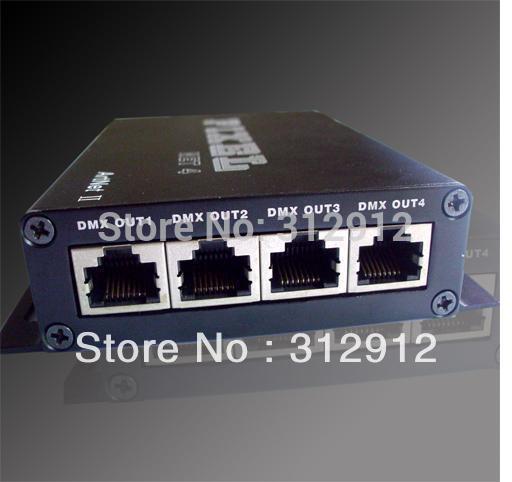 Artnet to dmx convertor;standard DMX512 signal ouptut;4 dmx output