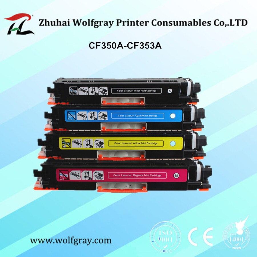 Совместимый тонер-картридж YI LE CAI CF350A 350A CF351A CF352A CF353A 130A для hp Color LaserJet Pro MFP M176n, M176 M177fw M177