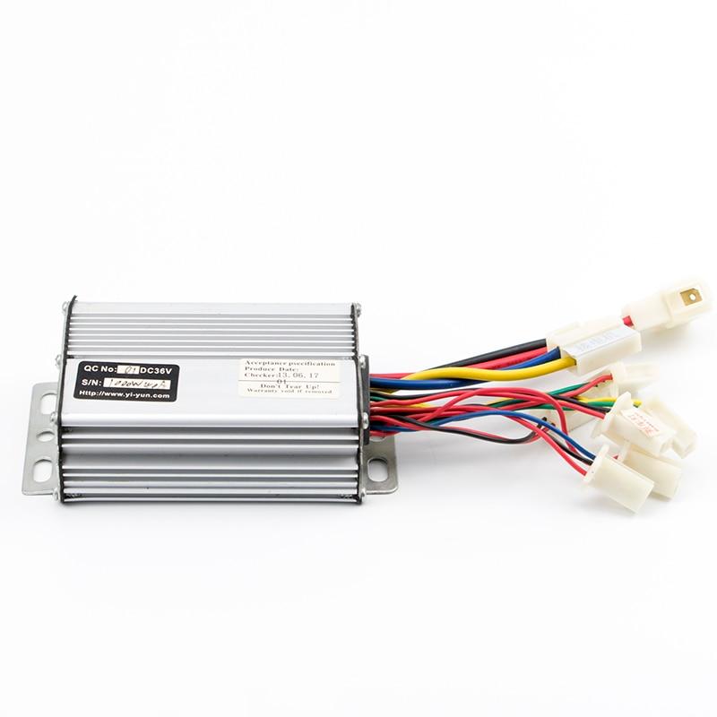 Контроллер щетки двигателя постоянного тока 36В 48В 1000 Вт 30А Контроллер скорости для электрического велосипеда