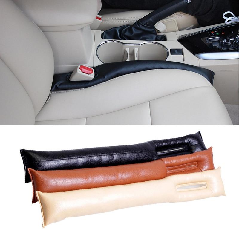 Hot 2 Pcs/Set Universal Car Seat Space Pad PU Leather Soft Mat Auto Seats Seam Filler Holster Sponge Cars Spacer Padding JLD