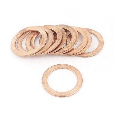 10 Uds 22mm OD 16mm ID 1mm de espesor Arandela de cobre junta de línea de freno de aceite de anillo plano
