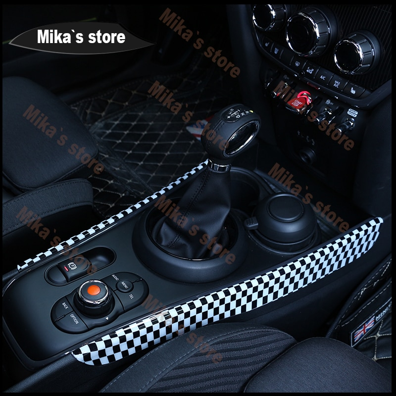ABS for Mini Cooper F60 F 60 Countrymen Gear Panel Automatic Gearbox Decoration Covers Sticker Car Accessories Decoration Panel enlarge