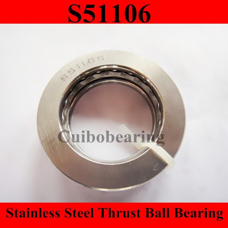 51106 الفولاذ المقاوم للصدأ الكرة فحوى تحمل S51106 30x47x11 مللي متر 30*47*11 مللي متر