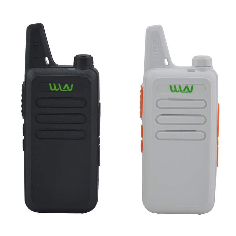 Портативная мини-рация x WLN, 2 шт., черно-белая, 16 каналов, УВЧ, 400-470 МГц