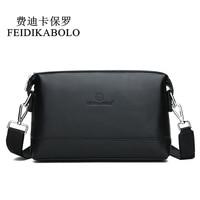 FEIDIKABOLO NEW Genuine Leather Shoulder Bags Men Messenger Bag Promotional Small Crossbody Bag Business Man Bag Multifunction