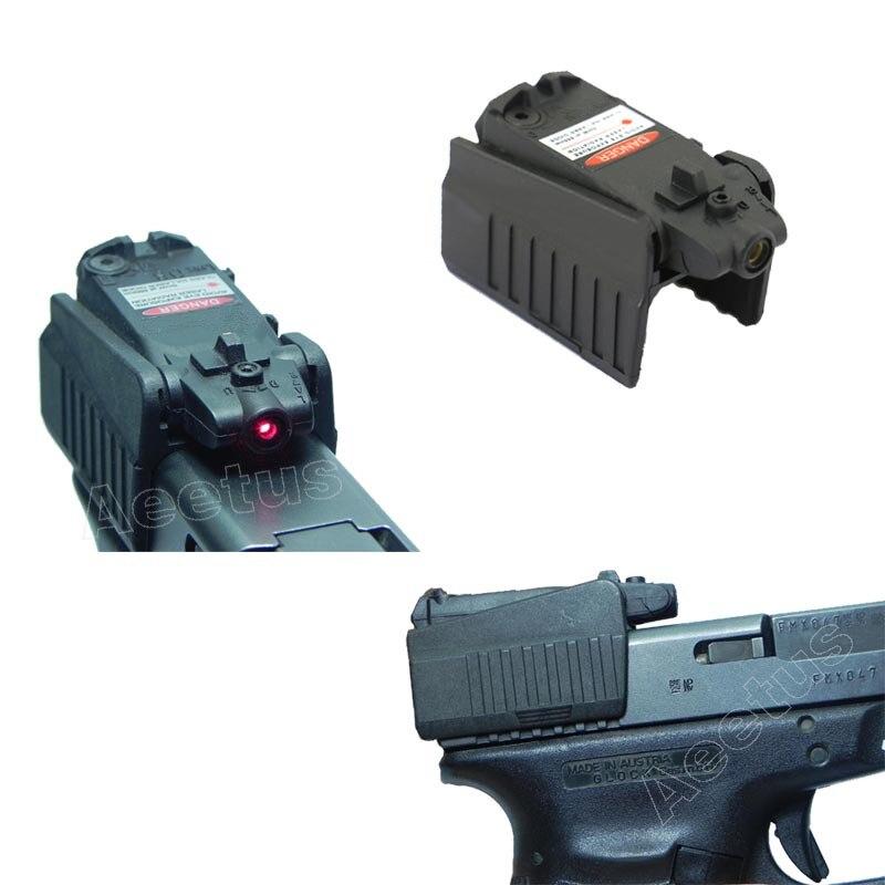 Visor láser rojo táctico, pistola compacta, pistola de mano para Glock 17 18C 22 34 Series, montaje alto/bajo VI04006