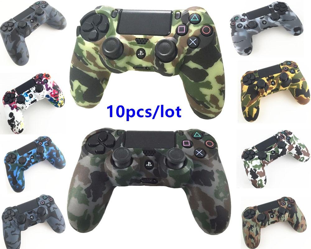 10 шт., силиконовый защитный чехол для Playstation 4, PS4 контроллер, PS4 Pro, тонкий камуфляжный чехол