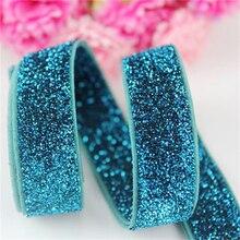 10 yards 16mm no patern elastic metallic band sewing elastic ribbon DIY gilr hair tie