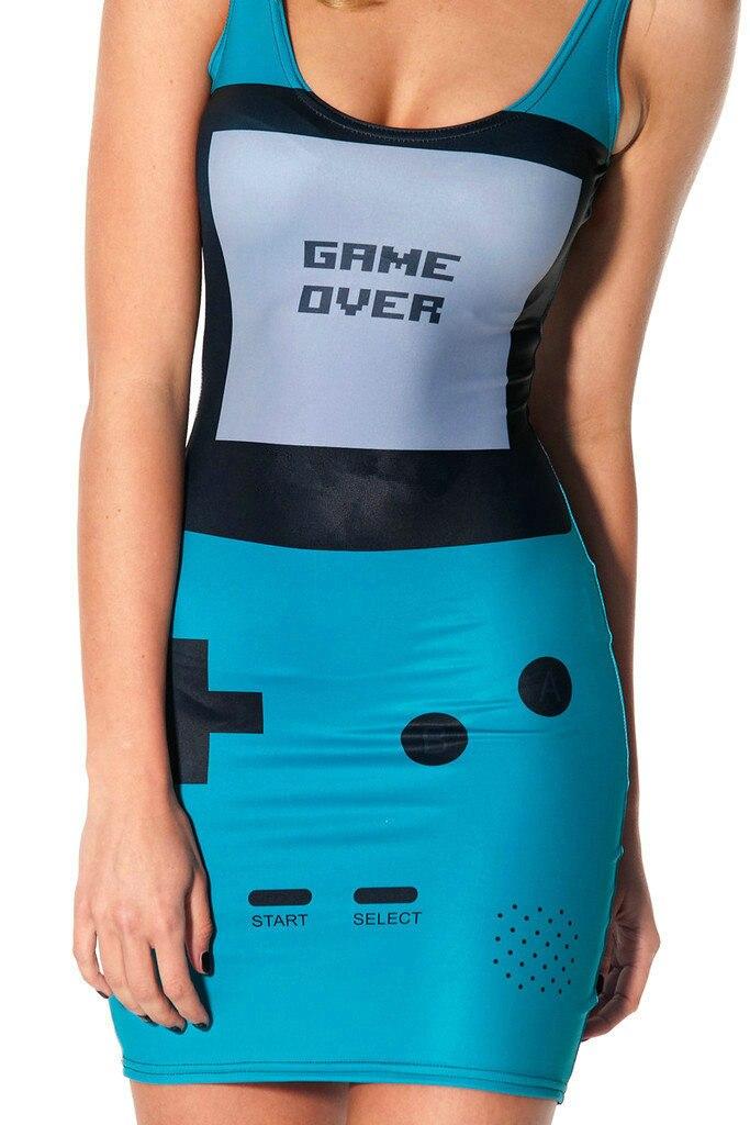 Модное повседневное женское платье с О-образным вырезом и тропическим 3D принтом, без рукавов, черное, молочное, обтягивающее, Vestidos Roupas Femininas ...