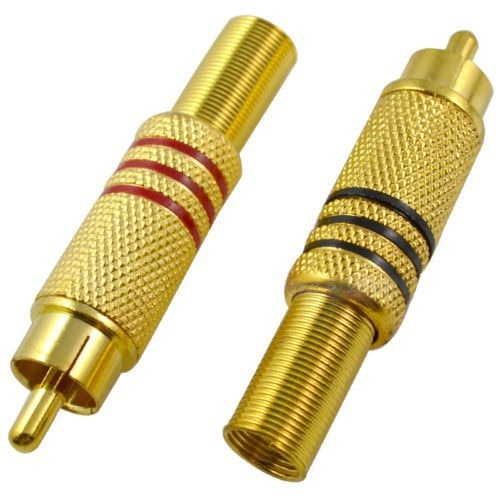 1000 قطعة الذهب لهجة سدادة RCA ذكر الصوت والفيديو كابل AV موصل محول لحام