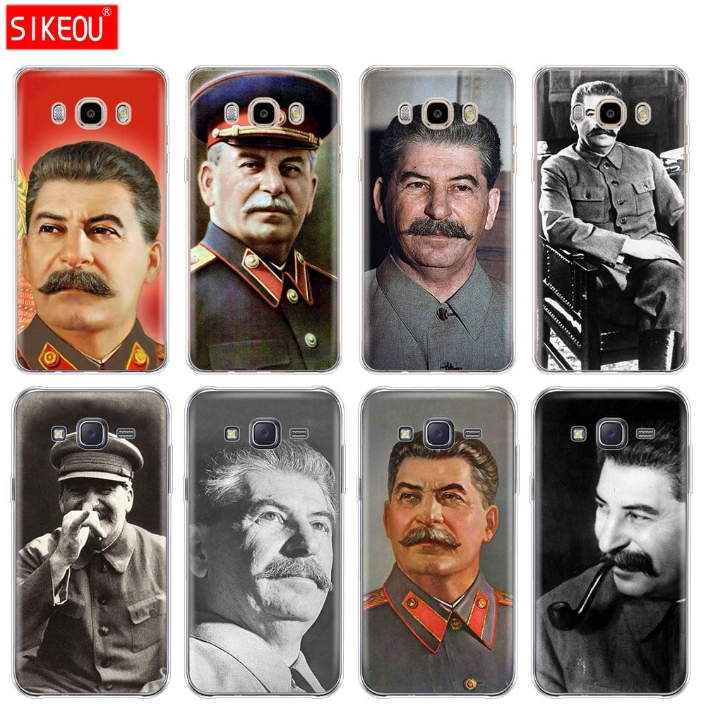 Silicone case capa do telefone para Samsung Galaxy J1 J2 J3 J5 J7 MINI 2016 2015 prime Stalin Urss do Russo
