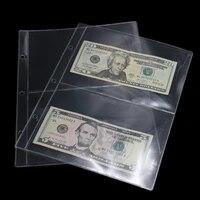 10Pages Lot 2 Units Page Paper Money Album PVC Paper Money Collection Holders Paper Money Protection Album