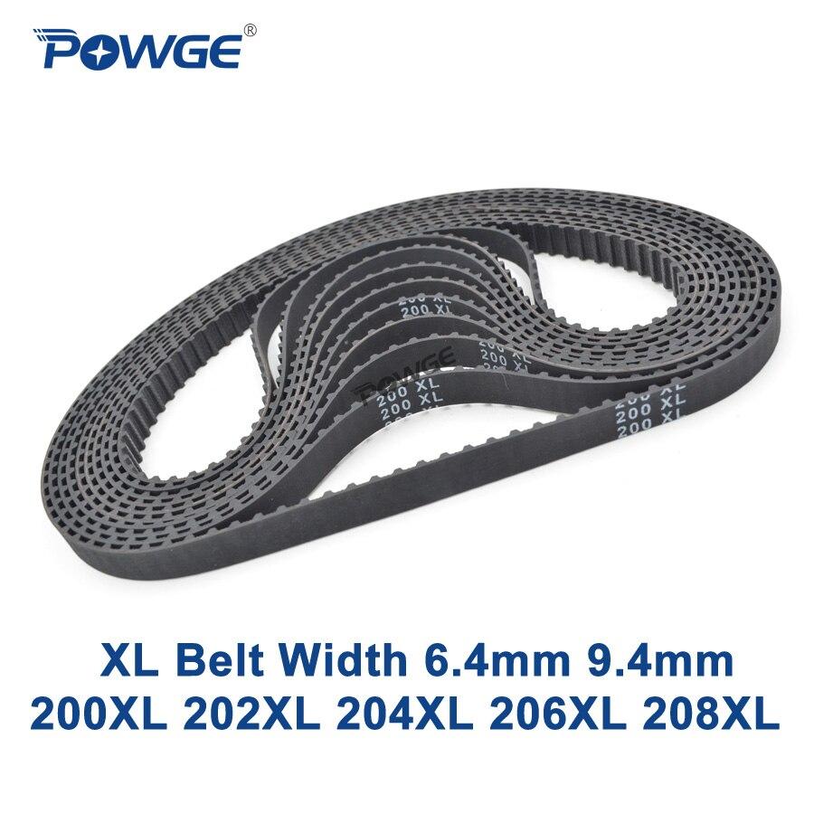 Powge XL momento cinturón 200/202/204/206/208 ancho 025 037 los dientes, 100, 101, 102, 103, 104 correa síncrona de 200XL 202XL 204XL 206XL 208XL