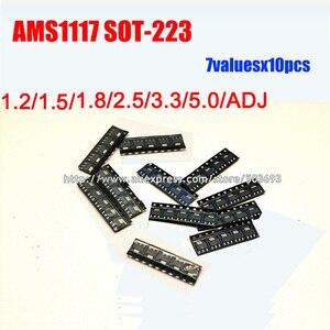 7valuesX10=70pcs SMD 1117 Series  Linear Regulator Voltage LDO IC TO-223 AMS1117 1.2V 1.5V 1.8V 2.5V 3.3V 5.0V ADJ