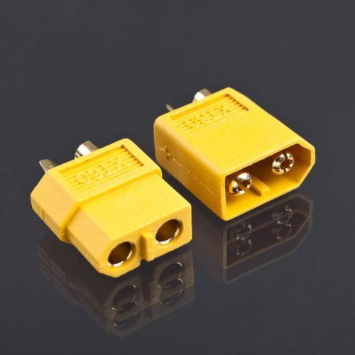 2 Para XT60 Männlich & Weiblich Rundstecker Stecker Für RC LiPo Batterie