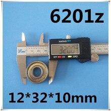 10pcs 6201 6201Z 6201ZZ 6201-2Z 12x32x10 MOCHU Shielded Deep groove ball bearings Single row High Quality bearings