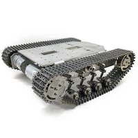 ts200 metal tank chassis smart robot tank chassis kit shock absorber load capacity 5 10kg unfinished