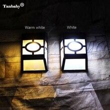 Lampes de mur LED actionnées solaires extérieures imperméables de barrière avec 2 LED s pour des éclairages de cour de jardin rechargeables automatiquement
