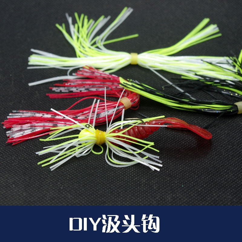 Diy jig cabeça rig buzzbait silicone lead headed gancho modificar acessórios peças de pesca baixo isca fishhook lote 3 peças venda