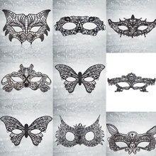 1 шт., сексуальная черная Цветочная маска для глаз с вырезами, Кружевные маски для маскарада, Маскарадная маска, маскарадный костюм, декор дл...