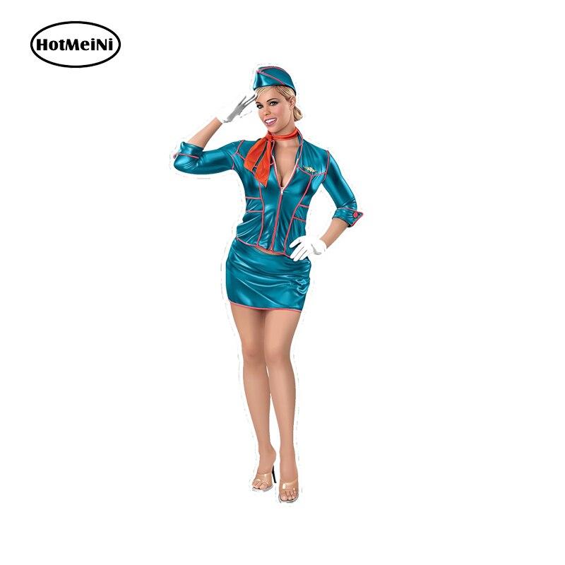 HotMeiNi 6,7 см x 15 см стюардесса булавка девушка наклейка воздушная хозяйка кабина команда полёт авиация Сексуальная Водонепроницаемая JDM наклейка для автомобиля