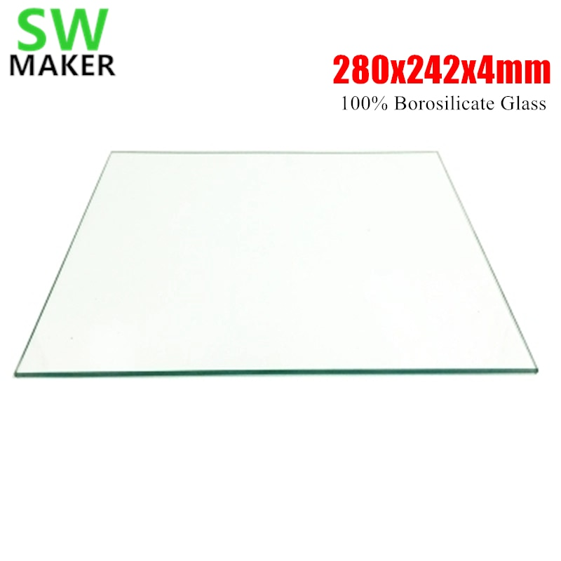 SWMAKER 280x242x4 мм 3D принтер 100% боросиликатное стекло пластина для DIY Flyingbear P905X 3D принтер сборка пластины