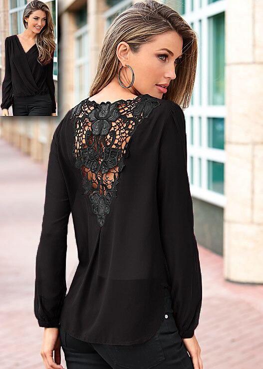 Primavera Verano mujer espalda costura de gasa de encaje camiseta Puff manga larga Camiseta mujeres Tops de talla grande LJ6155E