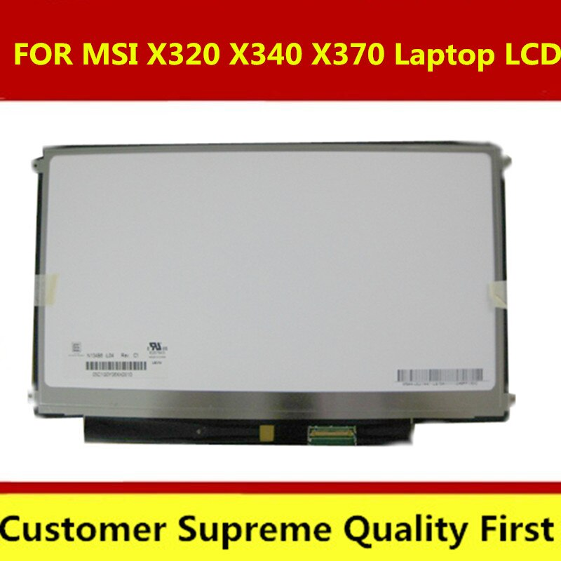 2 unids/lote N134B6-L04 LTN134AT01 13,4 pulgadas delgado para MSI X320 X340 X370 portátil pantalla LCD pantalla portátil pantalla LED