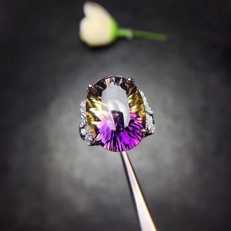 Супер красивое кольцо с натуральным аметистом, женское кольцо, серебро 925 пробы, необычное мастерство, красивые цвета.