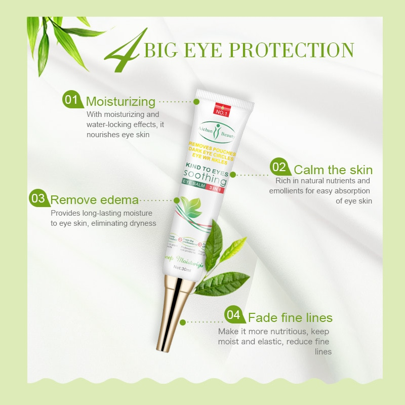 Aichun Eyes Serum Skincare Moisturizing Anti-Puffiness Ageless Eye Cream Remove Fat Granule Dark Circle Anti-Aging Serum