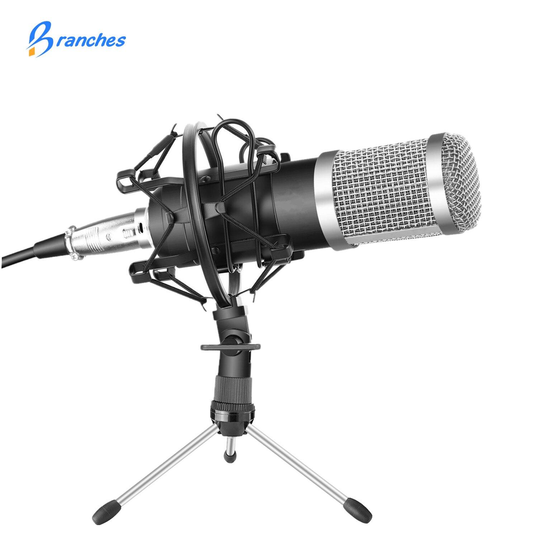 BM-800 profesional Kit de micrófono con condensador: micrófono para computadora + montaje de choque + espuma Cap + Cable BM 800 micrófono BM800