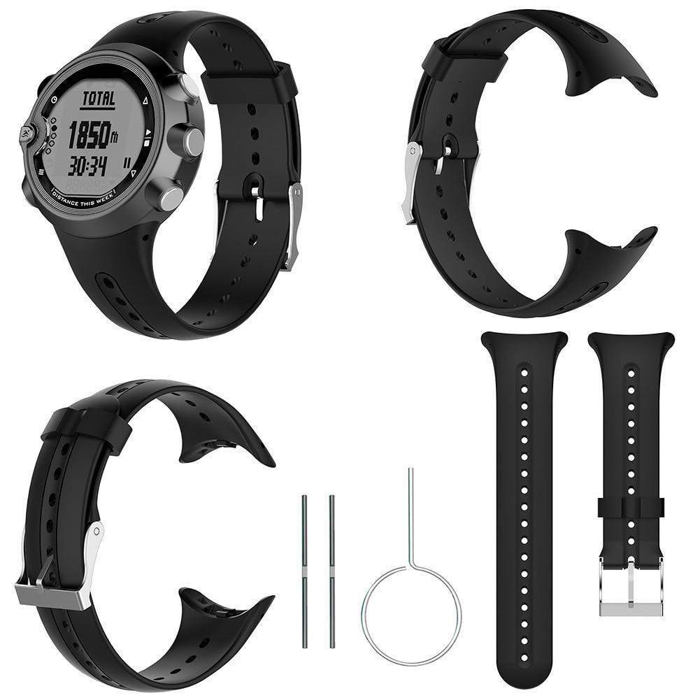 Correa de reloj de silicona de repuesto para Garmin Swim, reloj deportivo con herramientas, correa de reloj inteligente, correa negra