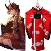 fgo cosplay tomoe gozen costume anime fate grand order tomoe gozen cosplay dress kimono women halloween carnival costume costom