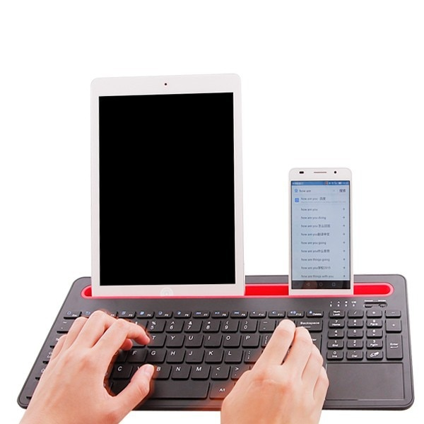 Review 2016 Fashion Touch Panel Bluetooth keyboard for 10.1 inch Chuwi Hi10 win10  tablet pc for Chuwi Hi10 keyboard