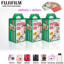 60 листов Оригинал Fujifilm Fuji Instax Мини пленка белый лист для Polariod mini7 7s 8 10 20 25 50s 50i SP1 dw SP-1, lomo instant