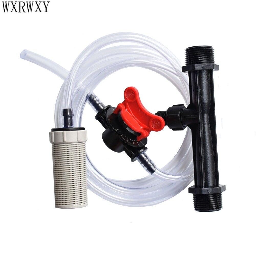 Venturi fertilizer injector 3/4 1/2 Bewässerung Venturi Automatische Dünger Spritze Wasser Rohr Filter Eingebaute schwerkraft ball 1 satz