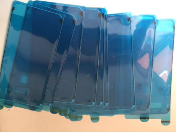 5 unids/lote para iPhone 7 7g plus 7P 8 8P X carcasa frontal LCD visualización pantalla táctil marco impermeable 3M cinta adhesiva precortada